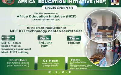 NEF Club, UNIZIK Chapter inaugurates the NEF ICT Centre.